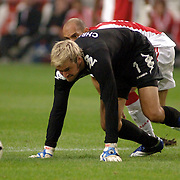 NLD/Amsterdam/20060823 - Ajax - FC Kopenhagen, Gabri in duel met keeper Jesper Christiansen