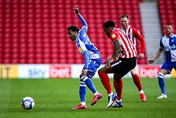 Jayden Mitchell-Lawson of Bristol Rovers takes on Jordan Willis of Sunderland - Mandatory by-line: Robbie Stephenson/JMP - 12/09/2020 - FOOTBALL - Stadium of Light - Sunderland, England - Sunderland v Bristol Rovers - Sky Bet League One