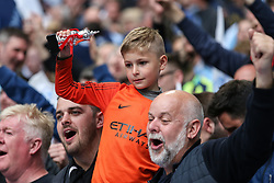 A young Manchester City fan celebrates at the final whistle - Mandatory by-line: Arron Gent/JMP - 18/05/2019 - FOOTBALL - Wembley Stadium - London, England - Manchester City v Watford - Emirates FA Cup Final
