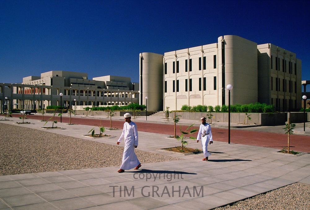 Omani  men at the University of Oman in Muscat, Oman