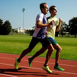 20201001: SLO, Athletics - Roman Kejzar and Robi Kogovsek at training