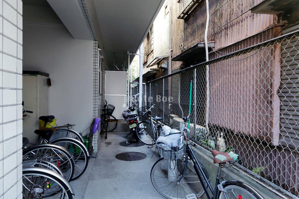 new student housing next to old residentail house Japan Yokosuka