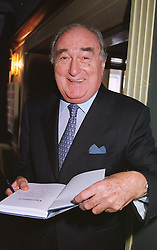 MR JARVIS ASTAIRE, deputy chairman of Wembley Stadium, at a party in London on 25th May 1999.MSL 3