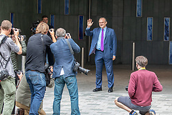 © Licensed to London News Pictures. 27/08/2020. London, UK. Ed Davey leaves the Conrad Hotel in Westminster after being elected as the new Lib Dem leader. Sir Ed Davey MP for Kingston and Surbiton in South West London has been elected to lead the Lib Dem Party. He beat rival candidate Layla Moran by more than 18,000 votes . Photo credit: Alex Lentati/LNP