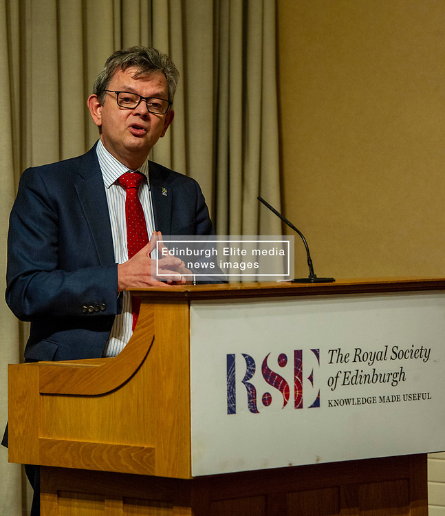 Pictured: Professor Sir Anton Muscatelli <br /><br />Professor Sir Anton Muscatelli was joined by Finance Secretary Derek Mackay as he launched his report on how Scotland's higher education sector can maximise its impact on economic growth. Commissioned by Mr Mackay, the report will make recommendations for the sector, industry, the Scottish Government and its agencies<br /><br /> Ger Harley | EEm 27 November 2019