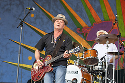 May 3, 2018 - New Orleans, Louisiana, U.S - PAUL SANCHEZ of Paul Sanchez Rolling Road Show during 2018 New Orleans Jazz and Heritage Festival at Race Course Fair Grounds in New Orleans, Louisiana (Credit Image: © Daniel DeSlover via ZUMA Wire)
