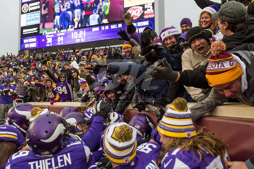 Minnesota Vikings vs. New York Jets on December 7, 2014 at TCF Bank Stadium in Minneapolis, Minnesota.  Photo by Ben Krause/Minnesota Vikings