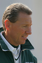 22 October 2005: Titan Head Coach Norm Eash. The Illinois Wesleyan Titans posted a 23 - 14 home win by squeeking past the Thunder of Wheaton College at Wilder Field (the 5th oldest collegiate field in the US) on the campus of Illinois Wesleyan University in Bloomington IL