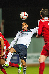 Falkirk's Phil Roberts. Falkirk 0 v 5 Aberdeen, the third round of the Scottish League Cup.<br /> ©Michael Schofield.