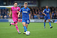 AFC Wimbledon midfielder Max Sanders (23) passing the ball during the EFL Sky Bet League 1 match between AFC Wimbledon and Rochdale at the Cherry Red Records Stadium, Kingston, England on 5 October 2019.