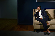 MANHATTAN, NEW YORK, JULY 18, 2016 Actor and comedian Aziz Ansari is seen in his offices in Brooklyn, NY. He was nominated for an Emmy for his series Master of None.  7/18/2016 Photo by Jennifer S. Altman/For The Times