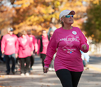 Making Strides Against Breast Cancer walk in Laconia, NH  (Karen Bobotas/for the Laconia Daily Sun)