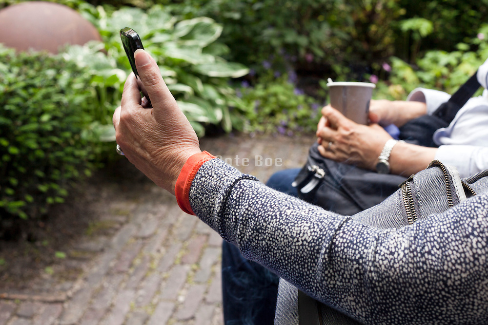 sharing information on a smartphone