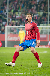 November 15, 2018 - Gdansk, Pomorze, Poland - Vladimir Darida (8) during the international friendly soccer match between Poland and Czech Republic at Energa Stadium in Gdansk, Poland on 15 November 2018  (Credit Image: © Mateusz Wlodarczyk/NurPhoto via ZUMA Press)