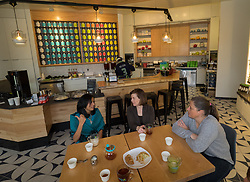 United States, Washington, Kirkland, Lizzy Kate tea shop.  MR and PR