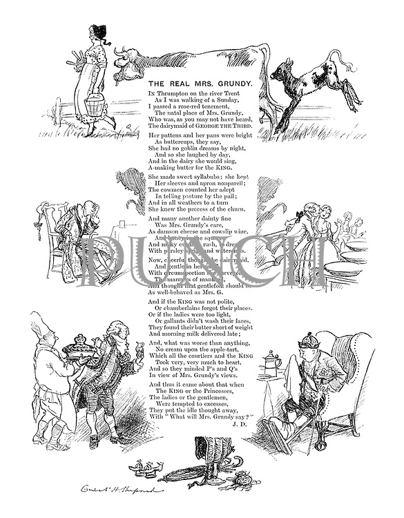 The Real Mrs Grundy (iIlustrated poem)