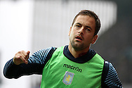 Joe Cole of Aston Villa warms up. Barclays Premier league match, Aston Villa v Arsenal at Villa Park in Birmingham on Saturday 20th Sept 2014<br /> pic by Mark Hawkins, Andrew Orchard sports photography.