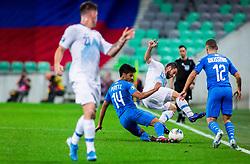 Dor Peretz of Israel vs Bojan Jokić of Slovenia during the 2020 UEFA European Championships group G qualifying match between Slovenia and Israel at SRC Stozice on September 9, 2019 in Ljubljana, Slovenia. Photo by Ziga Zupan / Sportida