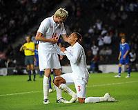 England Under 21's/Azerbaijan Unders 21's International 08.06.09 <br /> Photo: Tim Parker Fotosports International<br /> Kieran Gibbs England celebrates 6th goal with team mates