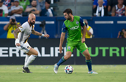 July 29, 2017 - Carson, CA, USA - Carson, CA - Saturday July 29, 2017: Jelle Van Damme, Will Bruin during a Major League Soccer (MLS) game between the Los Angeles Galaxy and the Seattle Sounders FC at StubHub Center. (Credit Image: © Michael Janosz/ISIPhotos via ZUMA Wire)