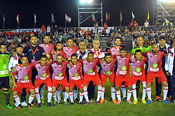 October 6, 2017 - Nabeul, Tunisia - The Tunisian team during the opening match against Portugal....Ceremonie the kickoff of the World Cup mini-football, held from 6 to 15 October in Nabeul (60 km south of Tunis) Tunisia this Friday, October 6, 2017 with the participation of 24 teams from different countries world. (Credit Image: © Chokri Mahjoub via ZUMA Wire)