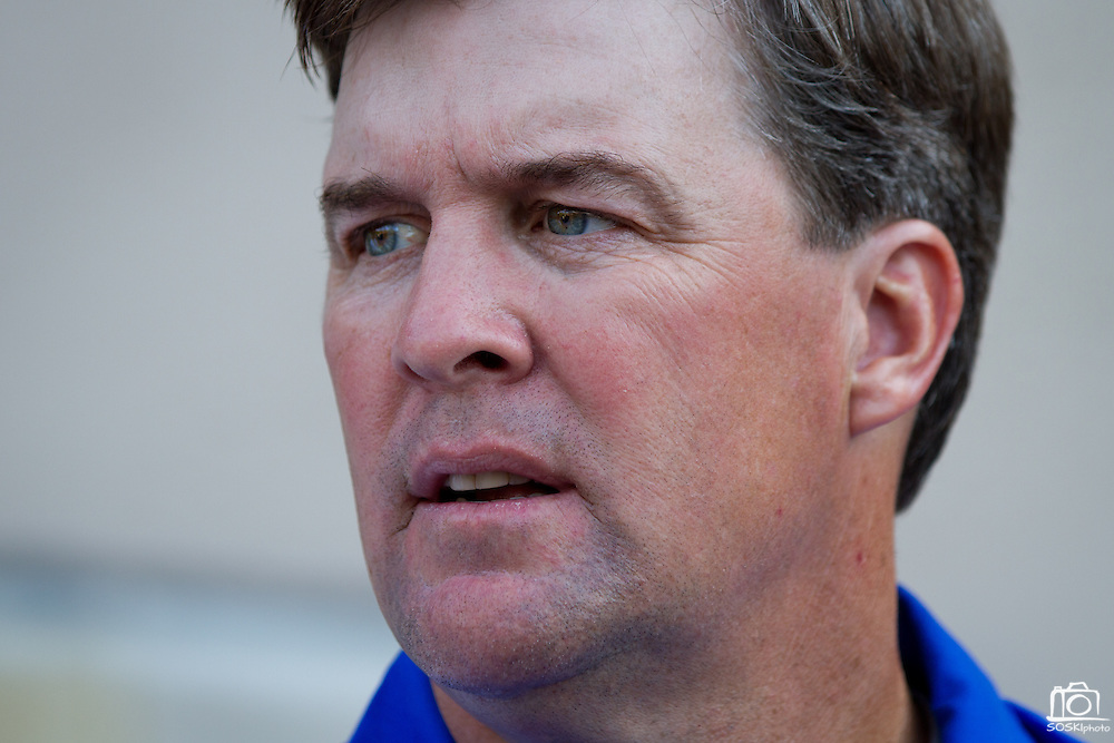 San Jose State Spartans' Head Coach Mike MacIntyre addresses the press after their 57-3 loss to Stanford (7) in Palo Alto, Calif., Sept. 3, 2011.  (Spartan Daily/Stan Olszewski)