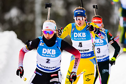March 10, 2019 - –Stersund, Sweden - 190310 Ingrid Landmark Tandrevold of Norway and Hanna Öberg of Sweden during the Women's 10 km Pursuit during the IBU World Championships Biathlon on March 10, 2019 in Östersund..Photo: Petter Arvidson / BILDBYRÃ…N / kod PA / 92254 (Credit Image: © Petter Arvidson/Bildbyran via ZUMA Press)