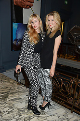 Left to right, PAULA GOLDSTEIN and AMBER ATHERTON at the SportMax + Cutler & Gross launch party hosted by Leigh Lezark at The Arts Club, 40 Dover Street, London on 23rd October 2013.