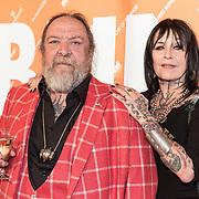 NLD/Amsterdam/20170930 - Orange Babies Gala 2017, Henk Schiffmacher en partner Louise Schiffmacher