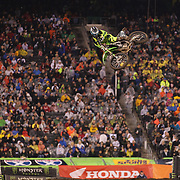 Tony Archer, Kawasaki, in action during the 450SX Class Championship during round 16 of the Monster Energy AMA Supercross series held at MetLife Stadium. 62,217 fans attended the event held for the first time at MetLife Stadium, New Jersey, USA. 26th April 2014. Photo Tim Clayton