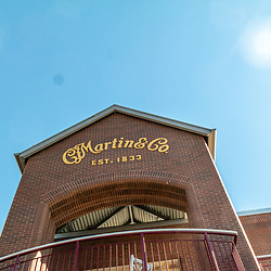 Nazareth, PA, USA - October 27, 2014:  Martin Guitar Company Sign