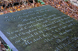 The Grave of Alexander John Scott Doctor of Divinity. Admiral Lord Nelsons long term Naval Chaplain. Scott was with Nelson aboard the flagship HMS Victory at Trafalgar and was the man to whom Lord Nelson spoke his last words. Buried in Saint Mary's Church Yard, Ecclesfield Sheffield. <br /> <br /> 07 February 2020<br /> <br /> www.pauldaviddrabble.co.uk<br /> All Images Copyright Paul David Drabble - <br /> All rights Reserved - <br /> Moral Rights Asserted -