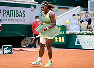 Serena Williams of the United States in action during the fourth round of the Roland-Garros 2021, Grand Slam tennis tournament on June 6, 2021 at Roland-Garros stadium in Paris, France - Photo Rob Prange / Spain ProSportsImages / DPPI / ProSportsImages / DPPI