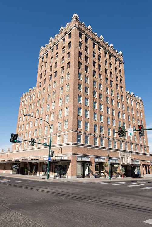 The historic Marcus Whitman Hotel in downtown Walla Walla, Washington.