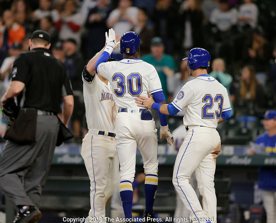Chicago White Sox Seattle Mariners during a baseball game, Sunday, Sept. 15, 2019, in Seattle. (AP Photo/John Froschauer)<br /> <br /> Seattle Mariners Chicago White Sox during a baseball game, Sunday, Sept. 15, 2019, in Seattle. (AP Photo/John Froschauer)
