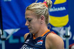04-08-2019 ITA: FIVB Tokyo Volleyball Qualification 2019 / Netherlands, - Italy Catania<br /> last match pool F in hall Pala Catania between Netherlands - Italy for the Olympic ticket. Italy win 3-0 and take the ticket to the Olympics / Maret Balkestein-Grothues #6 of Netherlands