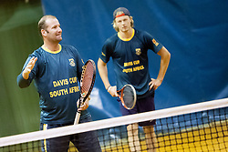 John-Laffnie de Jager during practice session before Davis Cup between National team of Slovenia and JAR on September 9, 2013 in Sports center Dolgi most, Ljubljana, Slovenia. (Photo By Urban Urbanc / Sportida)