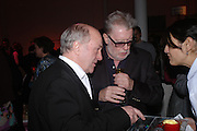 Maurice Cockrill and John Hoyland. Skools Rool, fundraising event  for the Royal Academy Schools.  Burlington St. London. 14 March 2005. ONE TIME USE ONLY - DO NOT ARCHIVE  © Copyright Photograph by Dafydd Jones 66 Stockwell Park Rd. London SW9 0DA Tel 020 7733 0108 www.dafjones.com