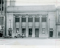 1953 Masonic Temple on Hollywood Blvd. at Orchid Ave.