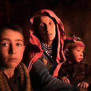 A Wakhi family in Chikar village, below the Darkot pass.