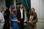 Poppy Dover , Max Irons and Georgie Pownall. . Garrard Colour And Cocktail Party, Garrard, 24 Albemarle Street, London. 10 May 2007. -DO NOT ARCHIVE-© Copyright Photograph by Dafydd Jones. 248 Clapham Rd. London SW9 0PZ. Tel 0207 820 0771. www.dafjones.com.