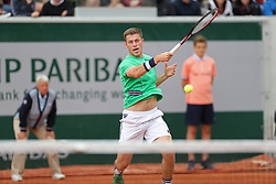 May 30, 2019 - Paris, France - Neal Skupski (GBR) plays a forehand during the French Open Tennis at Stade Roland-Garros, Paris on Thursday 30th May 2019. (Credit Image: © Mi News/NurPhoto via ZUMA Press)