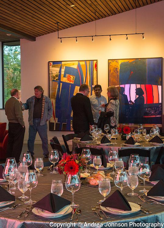 James Surls & Portland Art Museum dinner at Saffron Fields Vineyard, Willamette Valley, Oregon