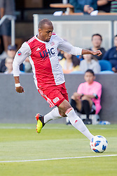 June 13, 2018 - San Jose, CA, U.S. - SAN JOSE, CA - JUNE 13: New England Revolution Forward Teal Bunbury (10) brings the ball down the field during the MLS game between the New England Revolution and the San Jose Earthquakes on June 13, 2018, at Avaya Stadium in San Jose, CA. The game ended in a 2-2 tie. (Photo by Bob Kupbens/Icon Sportswire) (Credit Image: © Bob Kupbens/Icon SMI via ZUMA Press)