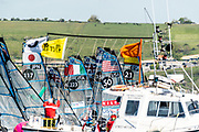 The 2019 49er, 49erFX and Nacra17 European Championships is being sailed off Weymouth and Portland, England from the 13th to 19th May, 2019. Hosted by the Weymouth And Portland National Sailing Academy, more than 400 sailors will race across the three Olympic classes.<br /> <br /> ©DREW MALCOLM / 2019 VOLVO EUROPEANS<br /> 13th May, 2019.