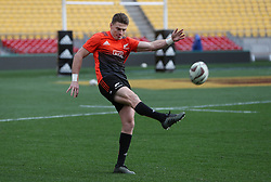 New Zealand's Beauden Barrett during the captain's run at the Westpac Stadium, Wellington.