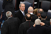 Former President George W. Bush greets members of the U.S. Supreme Court before the start of the President Inaugural Ceremony on Capitol Hill January 20, 2017 in Washington, DC. Donald Trump became the 45th President of the United States in the ceremony.