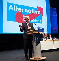 DEU, Deutschland, Germany, Erfurt, 22.03.2014: <br />Hans-Olaf Henkel beim 2. Bundesparteitag der Partei Alternative für Deutschland (AfD) in der Messe Erfurt.