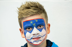 Young fan of Slovenia after the Ice Hockey match between Slovenia and USA at Day 10 in Group B of 2015 IIHF World Championship, on May 10, 2015 in CEZ Arena, Ostrava, Czech Republic. Photo by Vid Ponikvar / Sportida