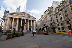 © Licensed to London News Pictures. 15/03/2020. London, UK. Bank and the Royal Exhange appear quiet this morning . New cases of the COVID-19 strain of Coronavirus are being reported daily as the government outlines it's plans for controlling the outbreak. Photo credit: George Cracknell Wright/LNP